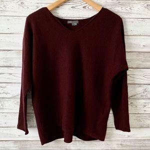 Vince 100% Cashmere V Neck Pullover Sweater L